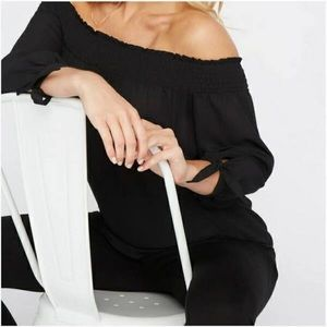 EXPRESS OFF THE SHOULDER LONG SLEEVE BLOUSE